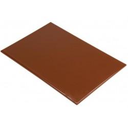 Professionele HDPE snijplank 60x45x2.5cm bruin